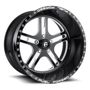 FF33 - 5 Lug Gloss Black & Milled