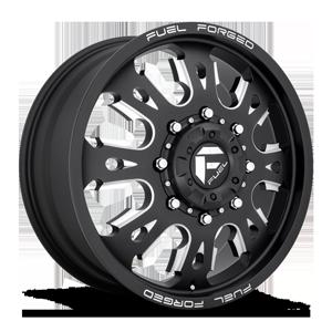 FF38D Front Matte Black & Milled