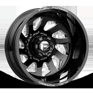 FF39D - 10 Lug Rear Gloss Black Milled - 22x8.5