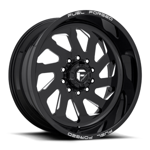 FF39D - 10 Lug Super Single Front Gloss Black & Milled