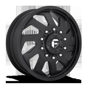 FF39D - 10 Lug Front Matte Black w/ Chrome Logo