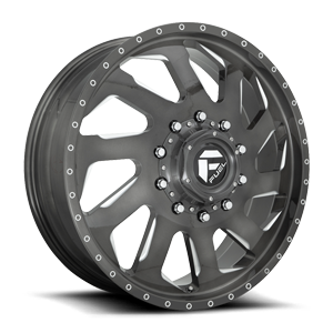 FF39D - 10 Lug Front Brushed Candy Black