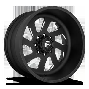 FF39D - 8 Lug Super Single Front Matte Black & Milled w/ No Dimples