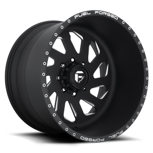 FF39D - 8 Lug Super Single Front Matte Black & Milled