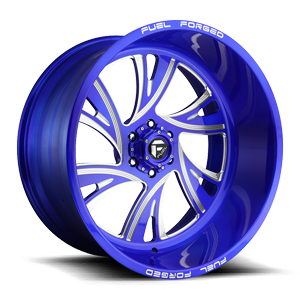FF41 - 6 Lug Anodized Blue/Milled