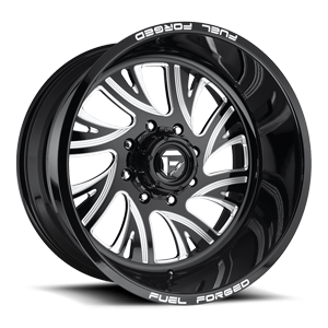 FF41 - 8 Lug Gloss Black & Milled