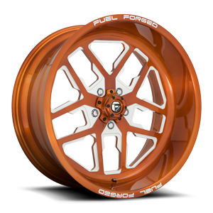 FF45 - 5 Lug Brushed Candy Trans Copper