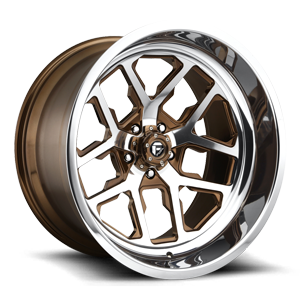 FFC45 - 5 Lug | Concave Trans Brown over Polish w/ Polished Windows