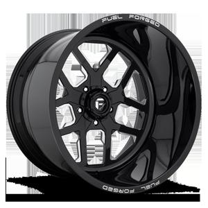 FF45 - 5 Lug Gloss Black & Milled