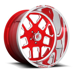FF45 - 5 Lug Candy Red w/ Polish Lip