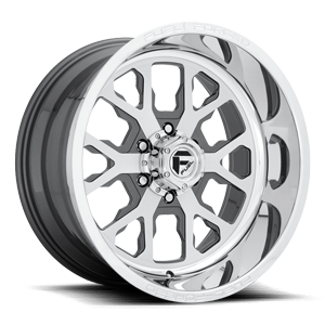 FF45 - 6 Lug Brushed w/ Anthracite / Polished Lip