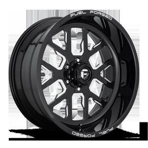 FF45 - 6 Lug Gloss Black & Milled