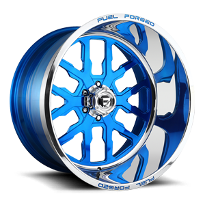 FF45 - 6 Lug Candy Blue w/Polished Lip