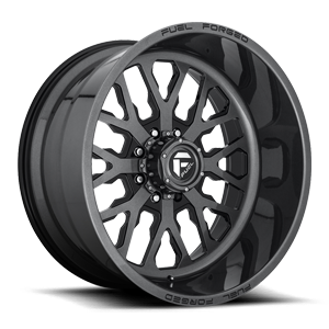 FF45 - 8 Lug Magnetic Metallic w/ Gloss Black Windows
