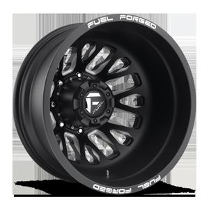 FF45D - Rear Matte Black & Milled