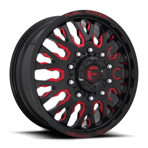FF45D - Front Gloss Black w/ Candy Red