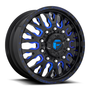 FF45D - Front Gloss Black w/ Candy Blue Accents