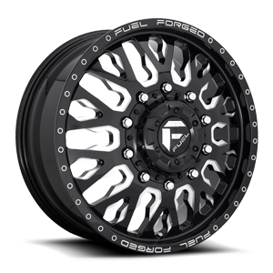 FF45D - Front Gloss Black & Milled w/ Dimples