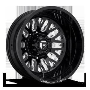 FF45D - Rear Gloss Black & Milled