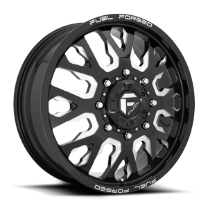 FF45D - Front Gloss Black & Milled