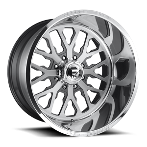 FF45 - 8 Lug Brushed Face w/ Anthracite Windows / Polished Lip