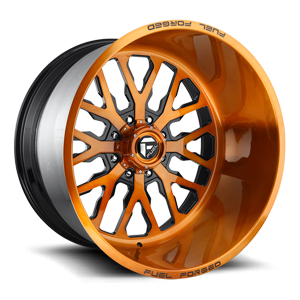 FF45 - 8 Lug Brushed Candy Copper w/ Black Windows