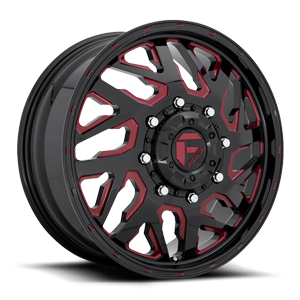 FF51D - Front Gloss Black w/ Ruby Red