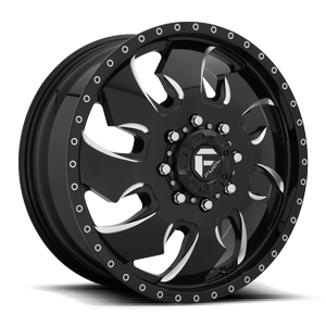 FF52D - Front 8 LUG ONLY Gloss Black & Milled