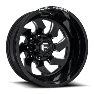 FF52D - Rear 8 LUG Gloss Black & Milled