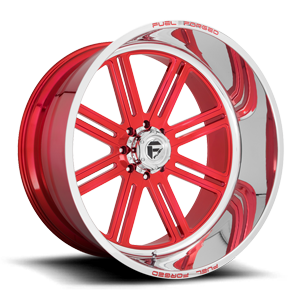FF54 - 8 Lug Soft Candy Red w/ Polished Lip