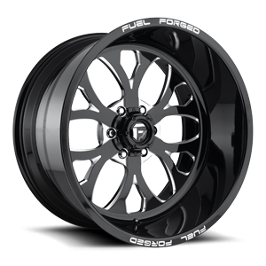 FF58 - 6 Lug Black & Milled