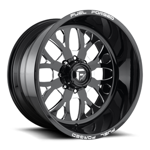 FF58 - 8 Lug Black & Milled