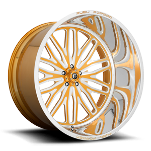 FF66 - 5 Lug 24K Gold & Milled w/ Polished Lip