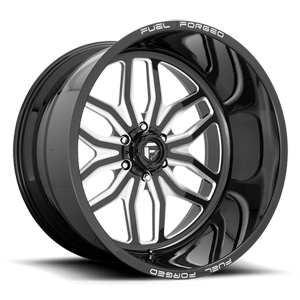 FF66 - 6 Lug Gloss Black & Milled