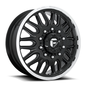 FF66D - 10 Lug Front Gloss Black w/ Polished Lip