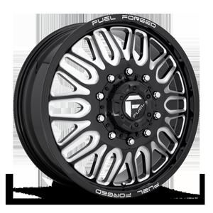 FF66D - 10 Lug Front Gloss Black & Milled