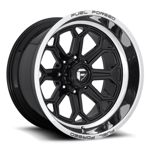 FFC101 8 Lug | Concave Gloss Black w/ Polished Lip