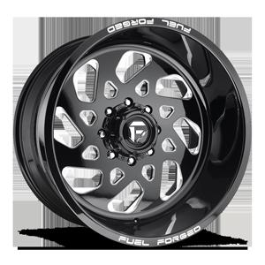 FF40 - 8 Lug Gloss Black & Milled