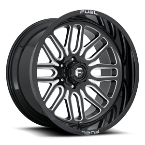 Ignite - D662 22x12 | Gloss Black & Milled
