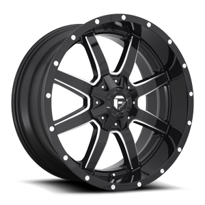 Maverick - D610 22x10 +10 | Gloss Black & Milled