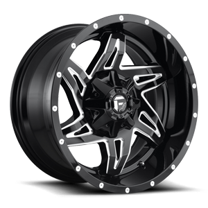 Rocker - D613 20x10 -18 | Gloss Black & Milled
