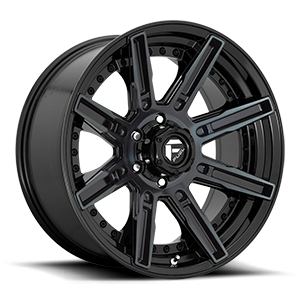 Rouge - D708 20x9 | Gloss Black w/ Brushed Gloss DDT