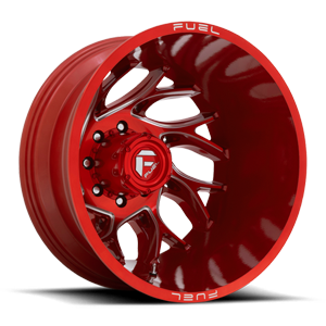 Runner Dually Rear - D742 Candy Red Milled - 20x8.25 - ET-240