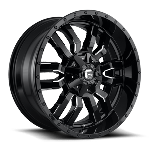 Sledge - D595 22x10 | Gloss Black & Milled