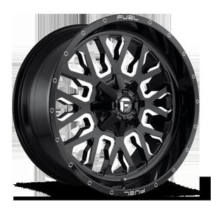 Stroke - D611 22x10 +10 | Gloss Black & Milled