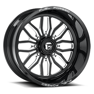 FF66 - 8 Lug Black & Milled