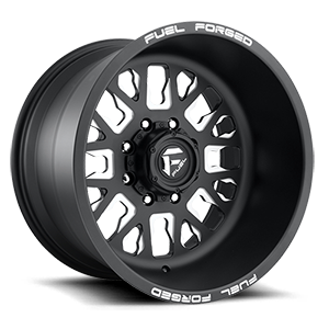 FF45D - Super Single Front Matte Black & Milled