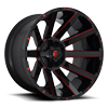 Contra - D643 24x14 | Gloss Black w/ Candy Red