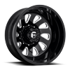 FF12D - Rear Gloss Black & Milled