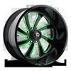 FF12 Gloss Black w/ Trans Candy Green Windows